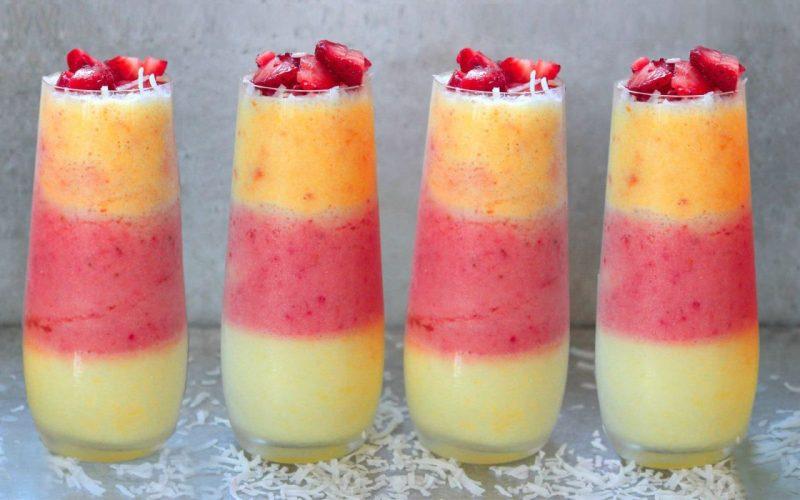 طريقة عمل عصير 3 الوان طبيعي جميل ومنعش ومغذي