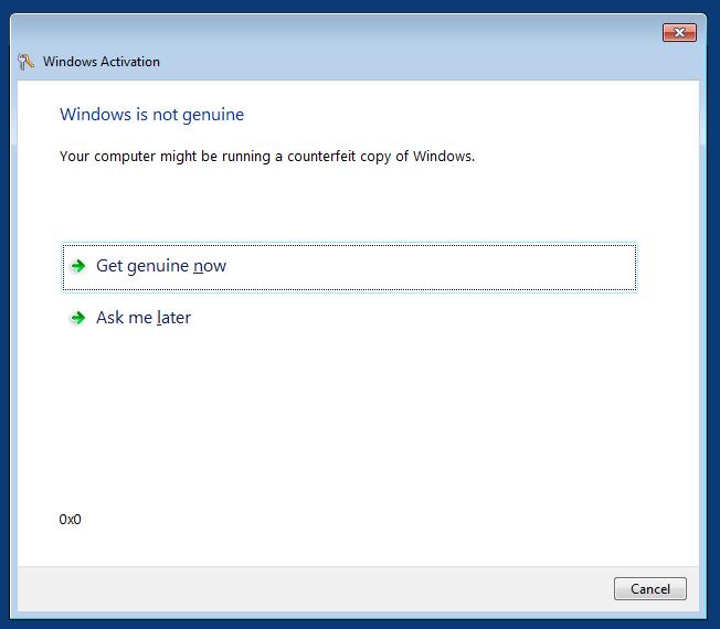 حل مشكلة this copy of windows is not genuine