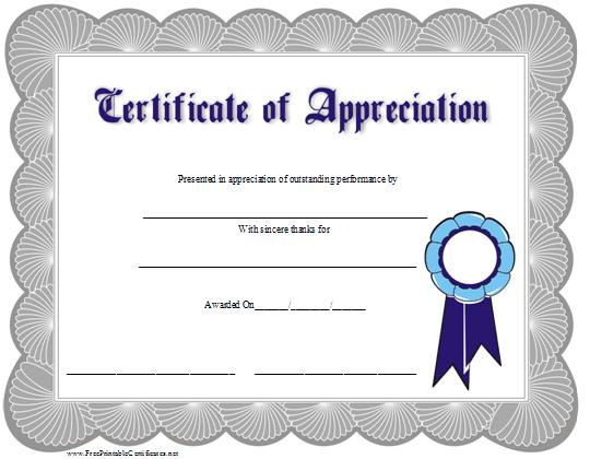 شهادة تقدير بالإنجليزي بسيطة التصميم