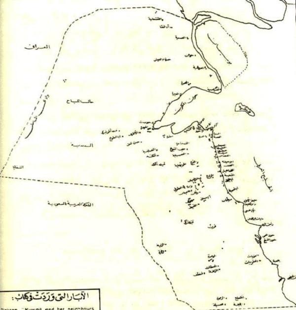أعتق خريطة للكويت